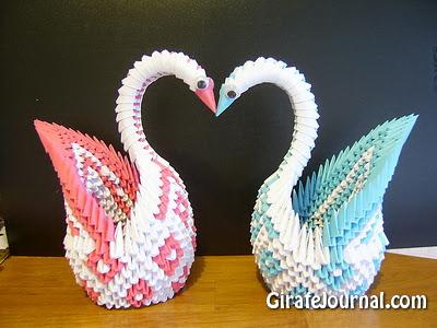 3D Оригами Лебедь: видео