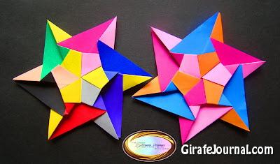 Шесть степеней, звёзд оригами: видео инструкция