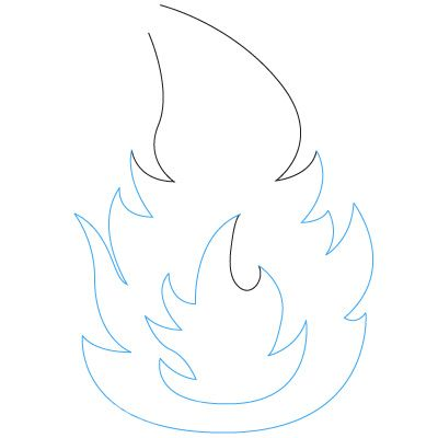 как рисовать пламя