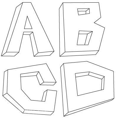 картинки как нарисовать объемные буквы представитель семейства ароидных