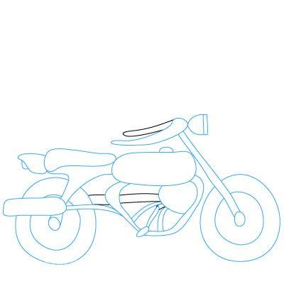 инструкция как рисовать мотоцикл