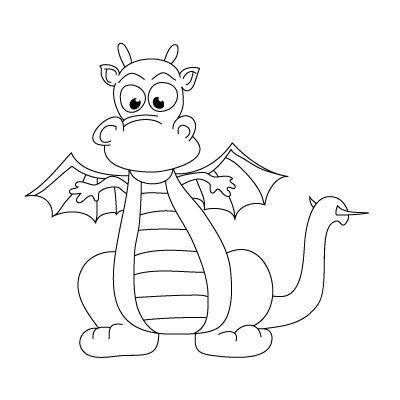 Нарисовать ребенку дракона