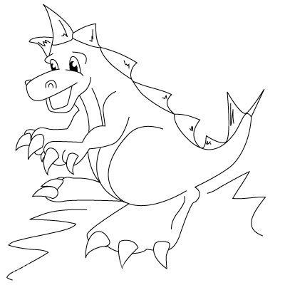 Как рисовать динозавра?
