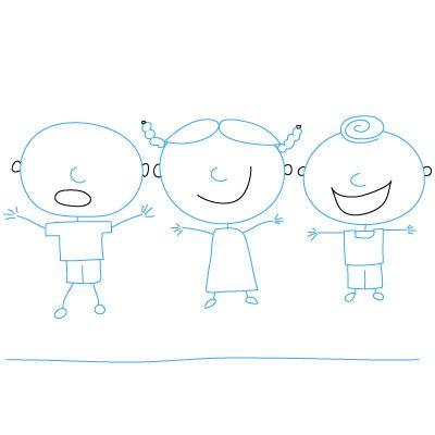 как рисовать детей