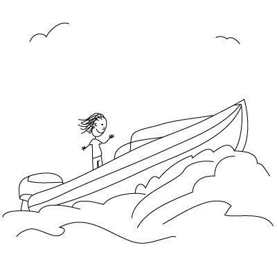 Как нарисовать лодку поэтапно