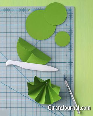 Оригами елка из кругов: видео инструкция