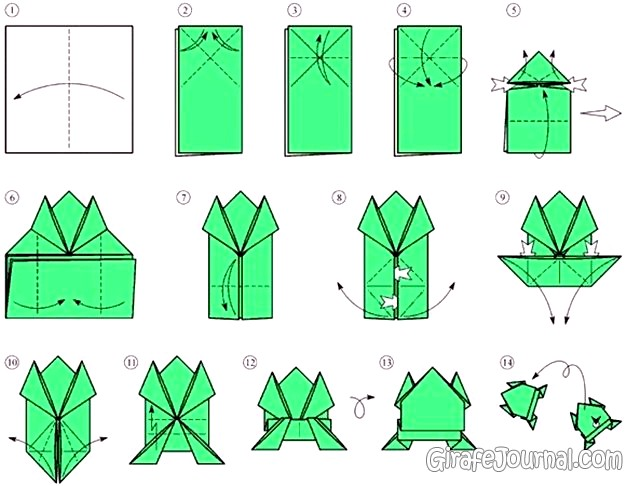 Оригами из прямоугольного