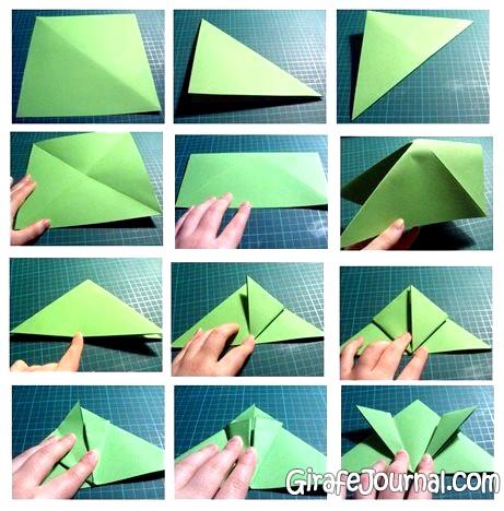 сделать лягушку из бумаги?