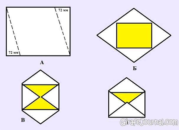 Фото: Как сделать конверт из бумаги?