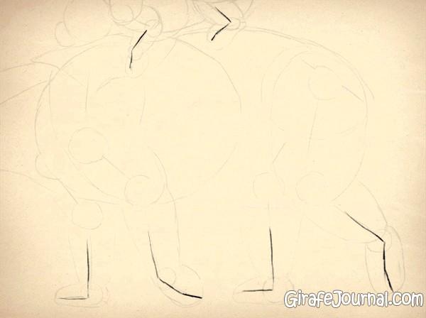 нарисовать медведя карандашом на льду