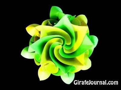 Как сделать Аквилегия цветок оригами? Видео инструкция
