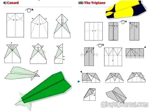 сделать из бумаги самолет