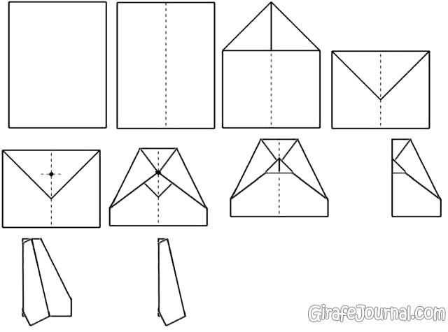Как сделать самолётик из бумаги который очень  962