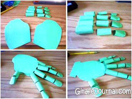 Как сделать руки из бумаги