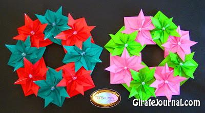 Красивый венок оригами: видео инструкция