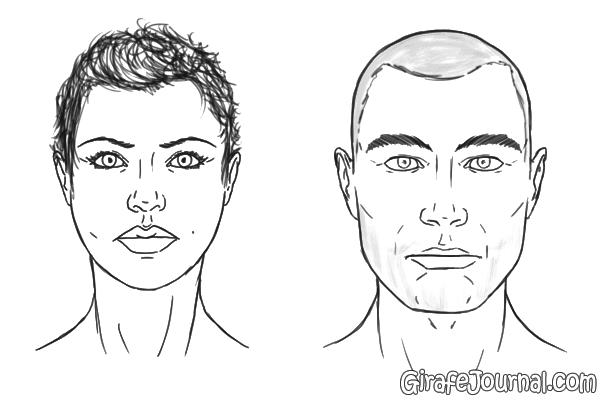 Как нарисовать волосы мужчины