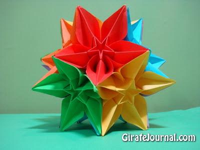Оригами цветок карамбола:
