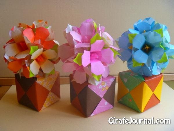 Оригами красивые цветы: видео