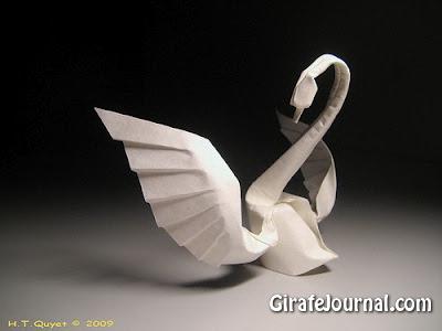 Оригами лебедь: видео инструкция