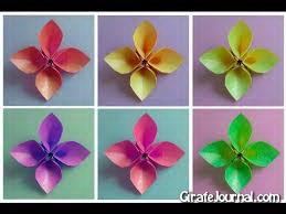 Оригами лепесток цветка: видео инструкция