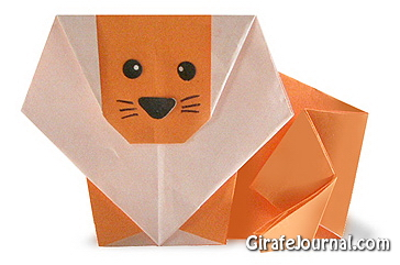 Оригами лев: видео инструкция