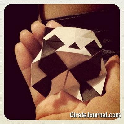 Оригами панда: видео инструкция