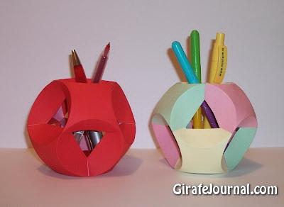Оригами шар для карандашей: видео инструкция