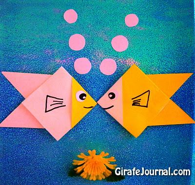 Оригами рыба для маленьких детей: видео инструкция