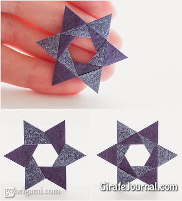 Оригами шестигранной звезды: видео ...: girafejournal.com/detyam/499-origami-shestigrannoj-zvezdy-video...