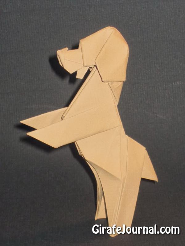 Оригами собака видео инструкция