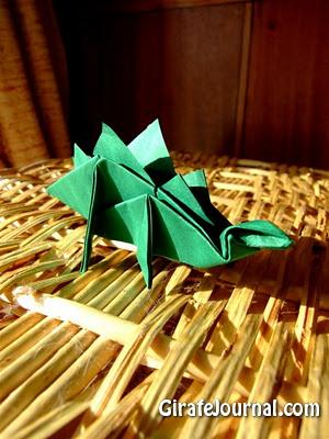 Оригами стегозавр: видео