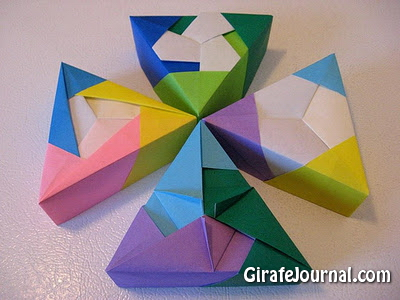 Тюльпаны оригами схема видео фото 654