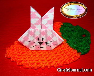 Оригами заяц: видео инструкция