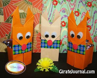 Симпатичные оригами олени: