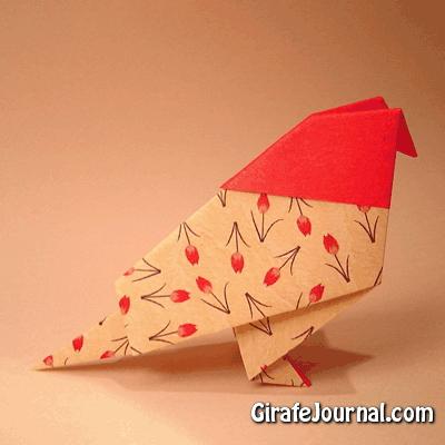 Традиционный оригами птица: видео инструкция