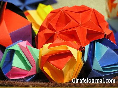 Цвет формы оригами