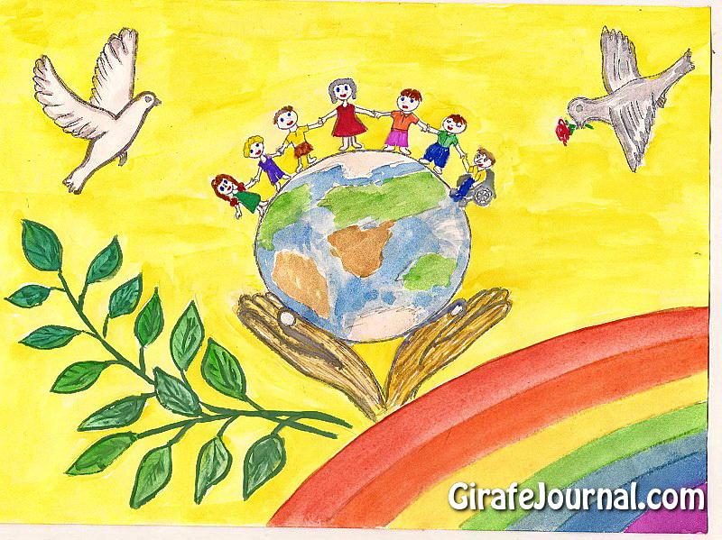 Рисунок мы за мир и дружбу народов