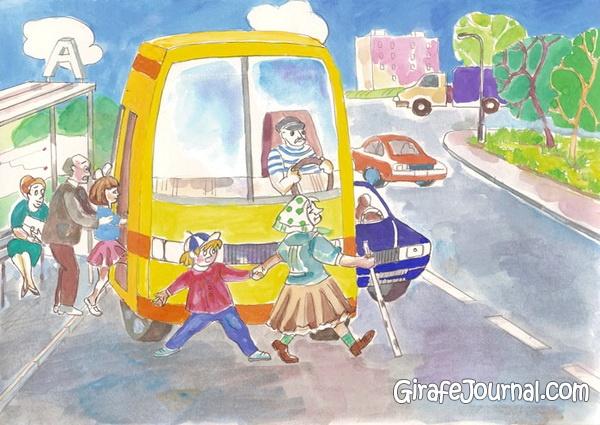 212Рисунки по правилам дорожного движения поэтапно