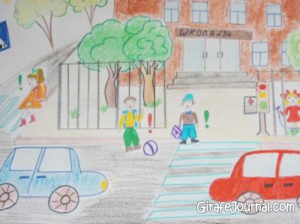 ПДД <em>рисунок перекрестка детские</em> рисунки <i>рисунок</i> для детей
