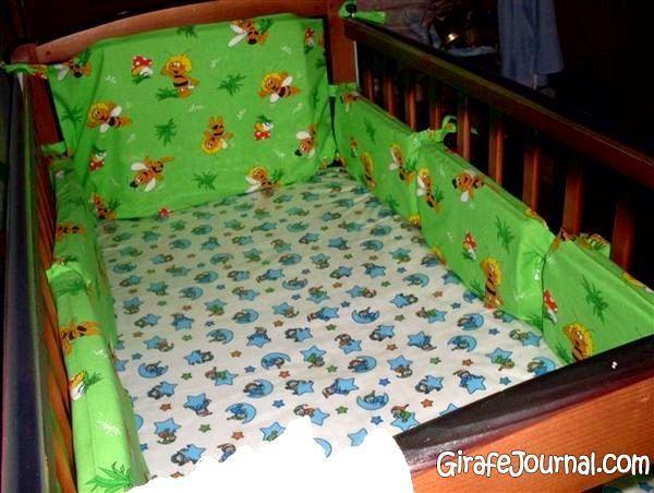 Чехол на детскую кроватку своими руками