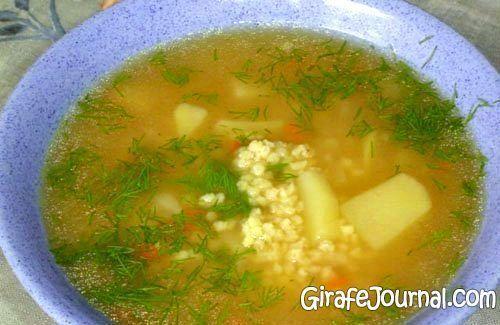 Суп з пшенкой і фрикадельками