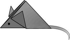 Оригами Мышка рисунок 11