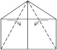 Оригами Самолётик рисунок 19