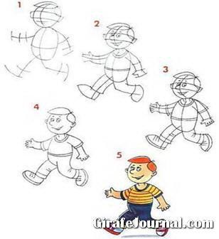 Как нарисовать человека поэтапно для 9 лет