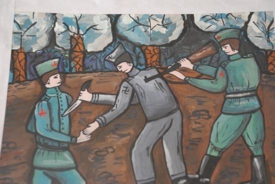 Видео детские рисунки на тему война