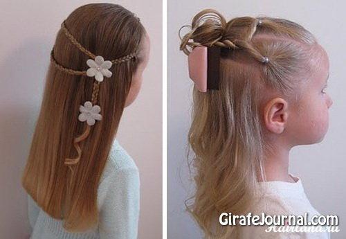 Новогодние причёски для детей