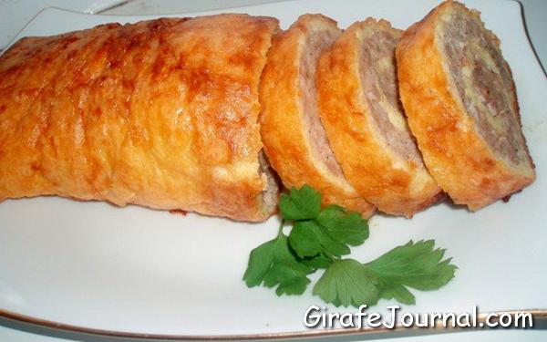 Мясной рулет с яйцом пошаговый рецепт (18 фото)