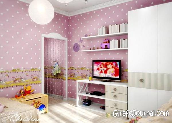 Дизайн дитячих кімнат для дівчаток