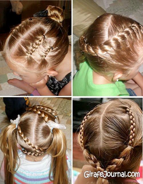 Прическа для девочки на средние волосы поэтапно фото