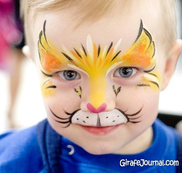 Детские рисунки на лице для девочек фото легкие